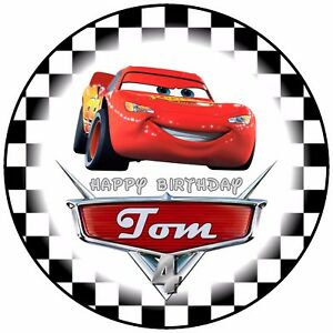 75 Disney Cars Lightning McQueen Birthday Celebration Personalised