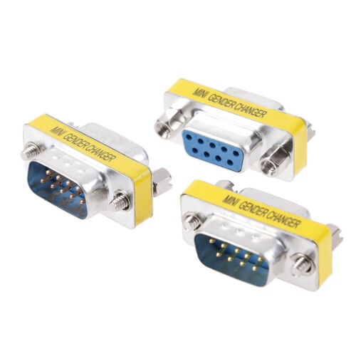 DB9 D-Sub 9pin Connectors Mini Gender Changer Adapter RS232 Serial ConnectTS