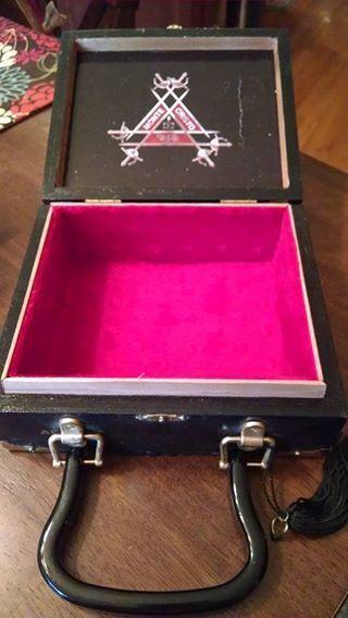 Vintage Wood Cigar Box Purse Monte Cristo  957fe33de26aa