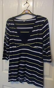 TARGET-COLLECTION-Ladies-long-sleeved-striped-top-size-14