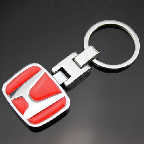 Stainless Keyring Car Logo Key Chain Fobs For Honda Civic Accord CR-V UR-V Fit