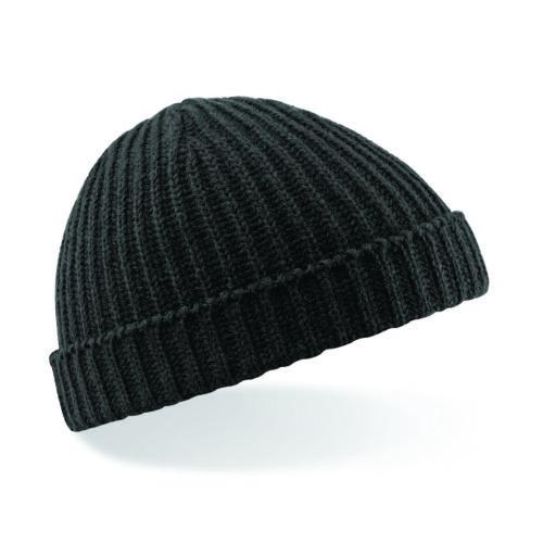 Beechfield rétro pêcheur chalutier hiver tricot côtelé turn up wooly beanie hat