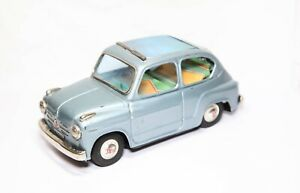 Bandai-Japan-Fiat-600-Excellent-Tinplate-Friction-Model-Rare