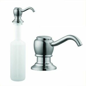 Brushed Nickel Kitchen Sink Faucet Liquid Soap Dispenser Lotion Pump