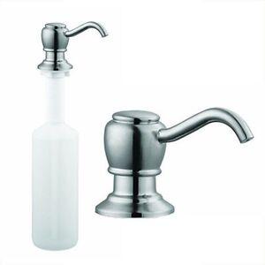 Brushed nickel kitchen sink faucet liquid soap dispenser lotion pump - Brushed nickel soap dispenser pump ...