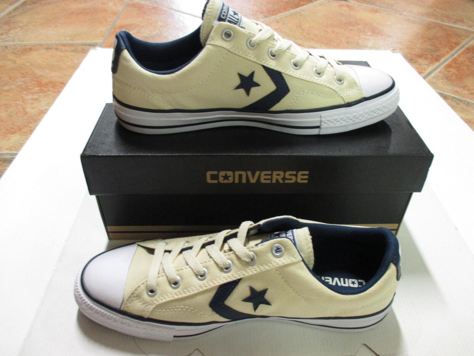 Converse Chuck All Star Player OX   Gr. 44  Natural/Navy/White Model 156620C NEU