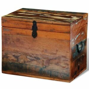 Image Is Loading Rustic Storage Trunk Box Reclaimed Solid Wood Storage