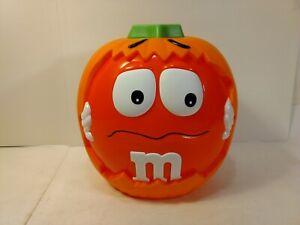 Orange-M-amp-M-Pumpkin-Candy-Basket-Autumn-Fall-Halloween-Decoration-h191