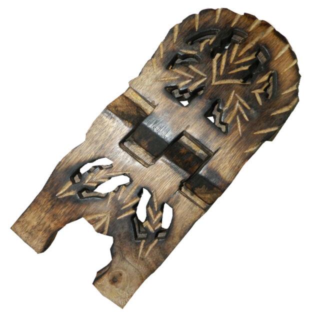Atril soporte para libros hoja parra cepa tallado plegable mango decoración