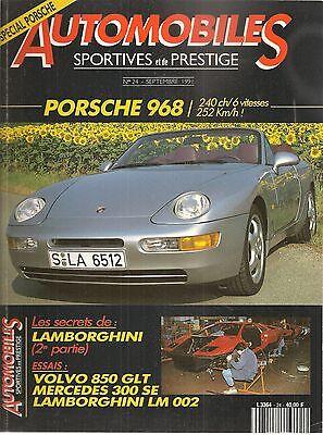 Automobiles Sportives Et De Prestige 24 Porsche 968 Coupe Cab Lamborghini Lm 002