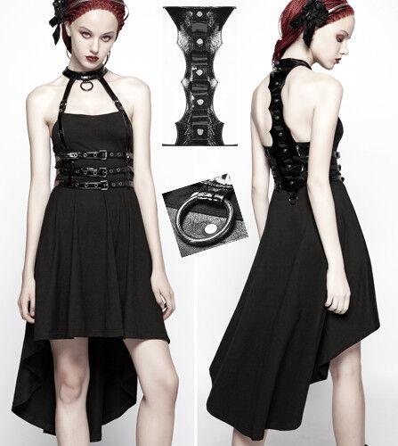 Robe traîne harnais gothique punk lolita cyber colonne verdeébral sangle PunkRave
