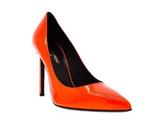 37 Classique Chaussures Neuf 5 7 Orange Paris 5 Saint Fluo Size Laurent 105 CvxwpRg