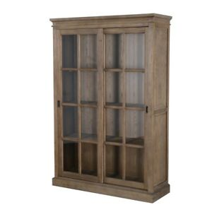 Image Is Loading 78 034 Tall Bookcase Cabinet Solid Elm Wood