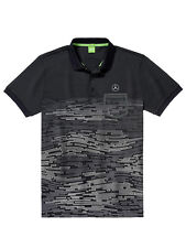 MERCEDES-BENZ GOLF POLO shirt uomo in nero/bianco-di BOSS Green-Taglia M