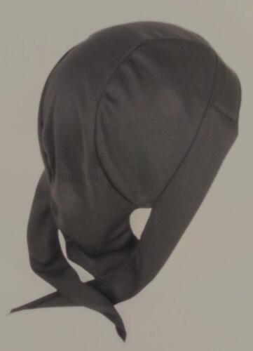 skull cap hat do du doo rag  wicking fabric black sweat band USA