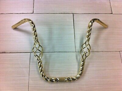 """Gold Caged Twisted Bicycle Handlebar 16/"""" Rise Lowrider Cruiser Bikes"""