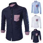 Fashion Men Luxury Stylish Casual Dress Shirt Slim Fit Casual Long Sleeve Shirts