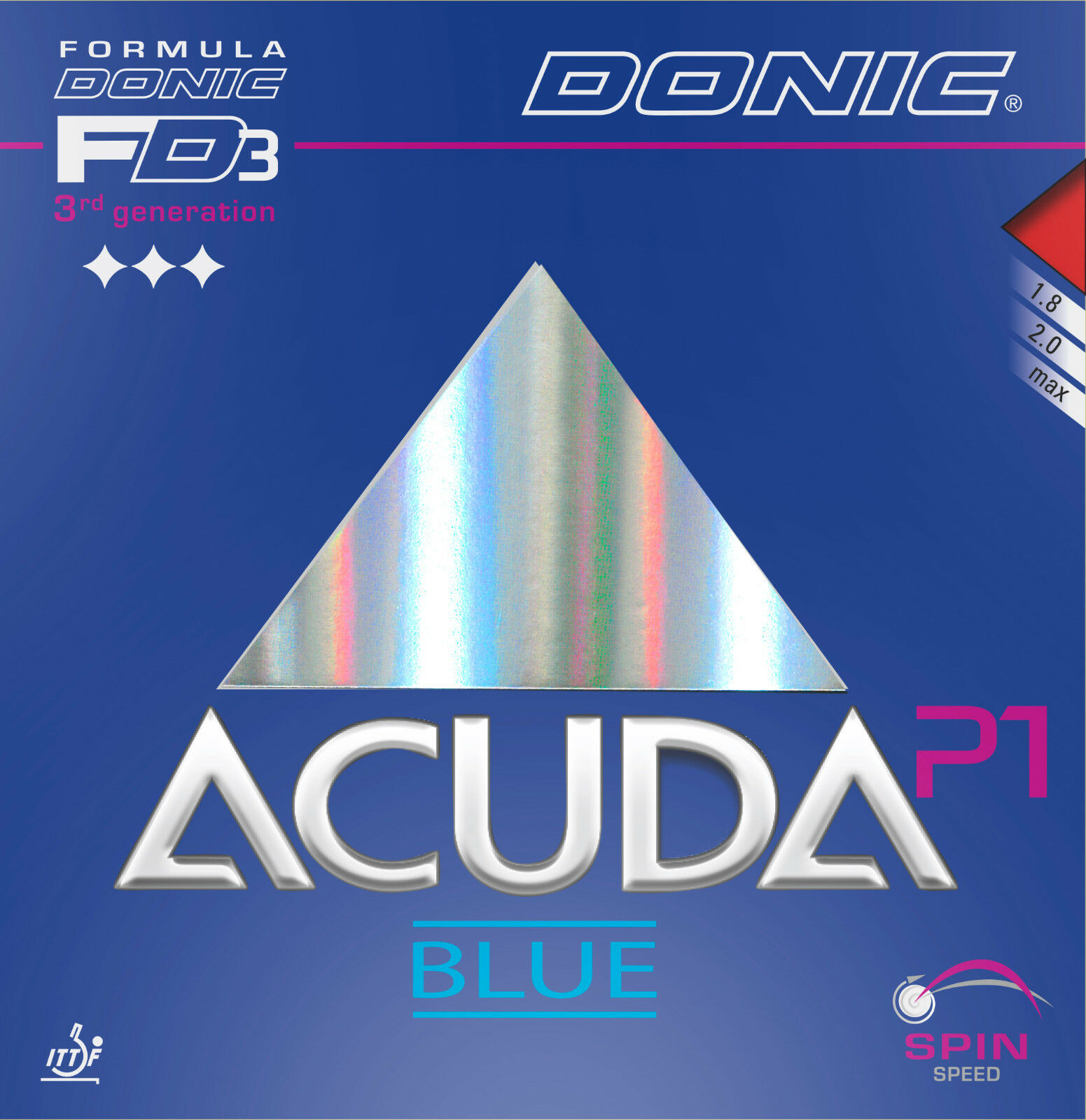 DONIC Acuda Blau P1 max schwarz    NEU   OVP 3e869b