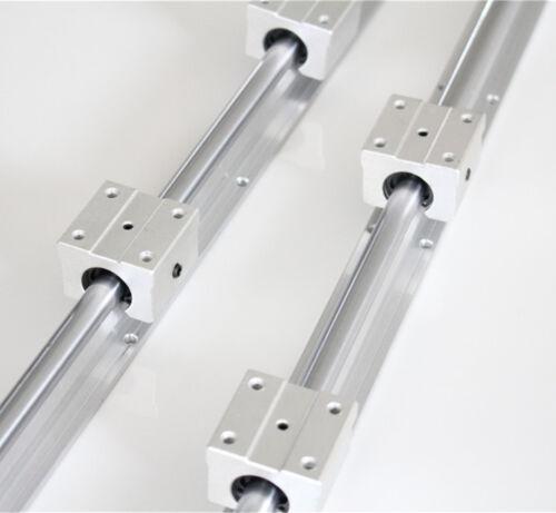 2stk SBR12 1000mm 1M Linearführung Linearwelle Welle 4stk SBR12UU Lagerblock