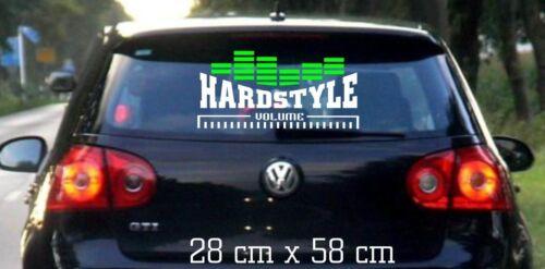 Hardstyle MOTIF 1-Autocollant 28 x 58 cm-vitre arrière