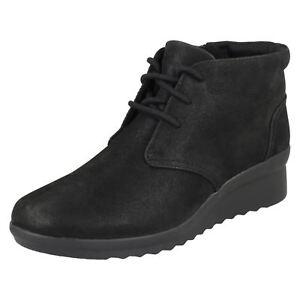 Negro Hop Cloud con botines Botas para Clarks Steppers y cordones mujer con cordones Caddell qCpwU4