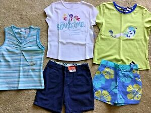 LOT-5-NEW-OLD-NAVY-amp-LANDS-END-GIRLS-SZ-7-8-SHORT-SLEEVE-amp-TANK-TOPS-SHORTS-NWT