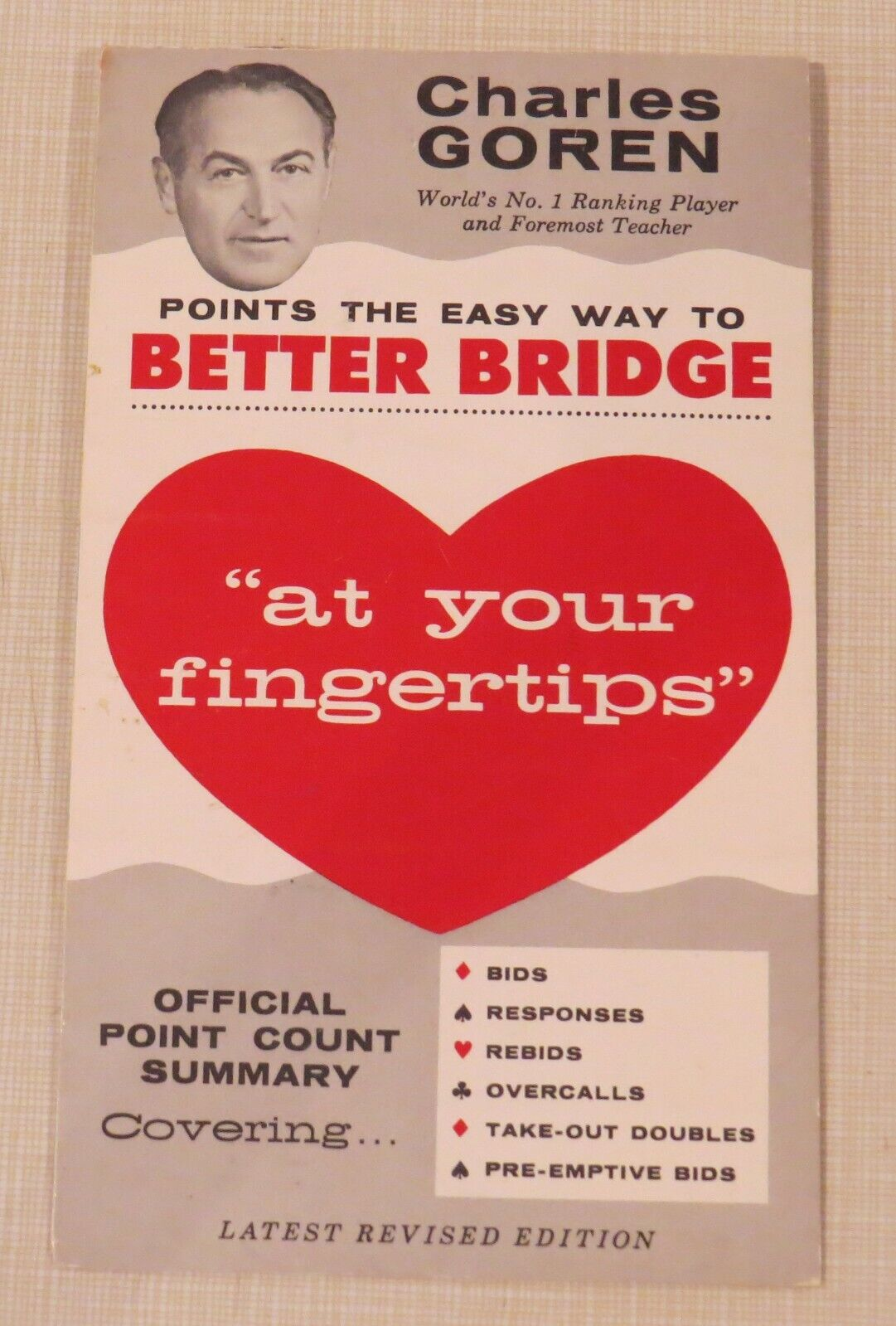 Charles Goren  At Your Fingertips  Points Points Points the Easy Way to Better Bridge, summary 5ce97c