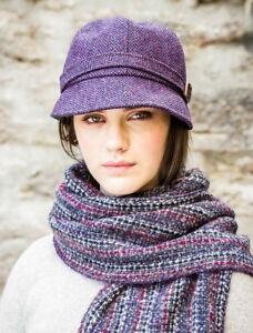 f205482a8 Ladies Purple Flapper Hat cap by Mucros Weavers Ireland col 213 | eBay