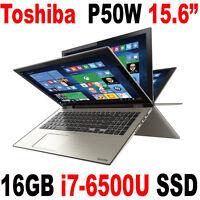 I7-6500u 16gb 256gb Ssd Toshiba Satellite P50w-c 15.6 Full Hd Touch Laptop