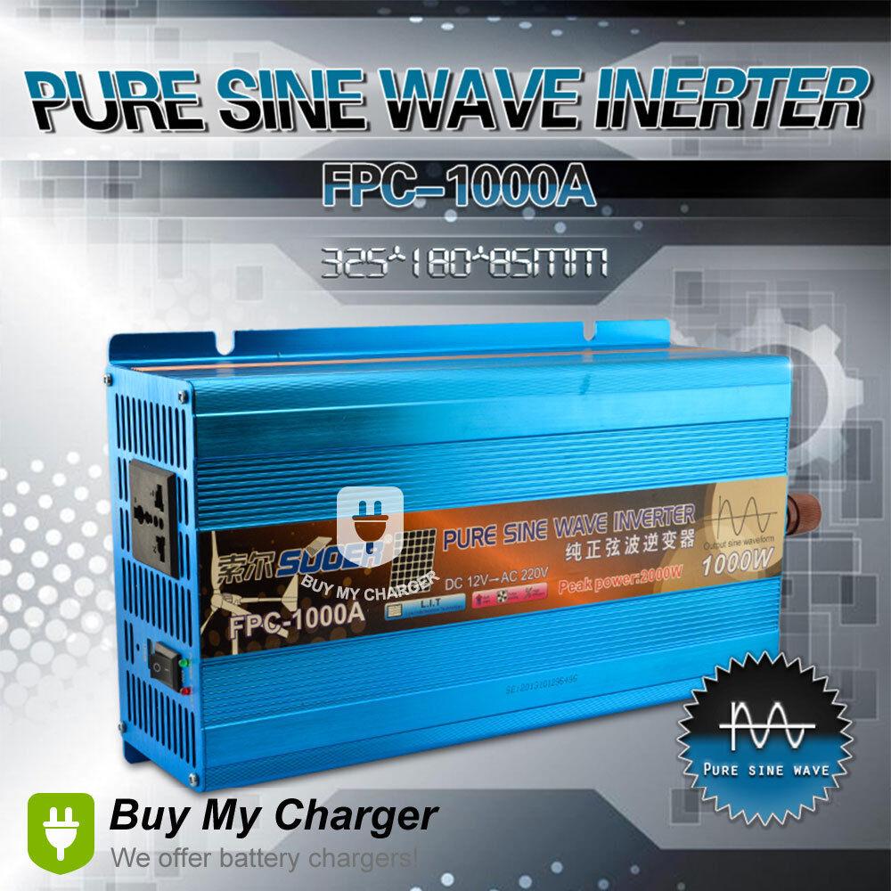 Pure Sine Wave Power Inverter 1000w 2000w Peak Dc 12v To Ac 220v True Idea 1 X