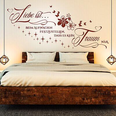 Wandtattoos Wandbilder Wandtattoo Schlafzimmer Liebe Ist Beim Aufwachen Festzustellen Sticker Spruch Mobel Wohnen Elin Pens Ac Id