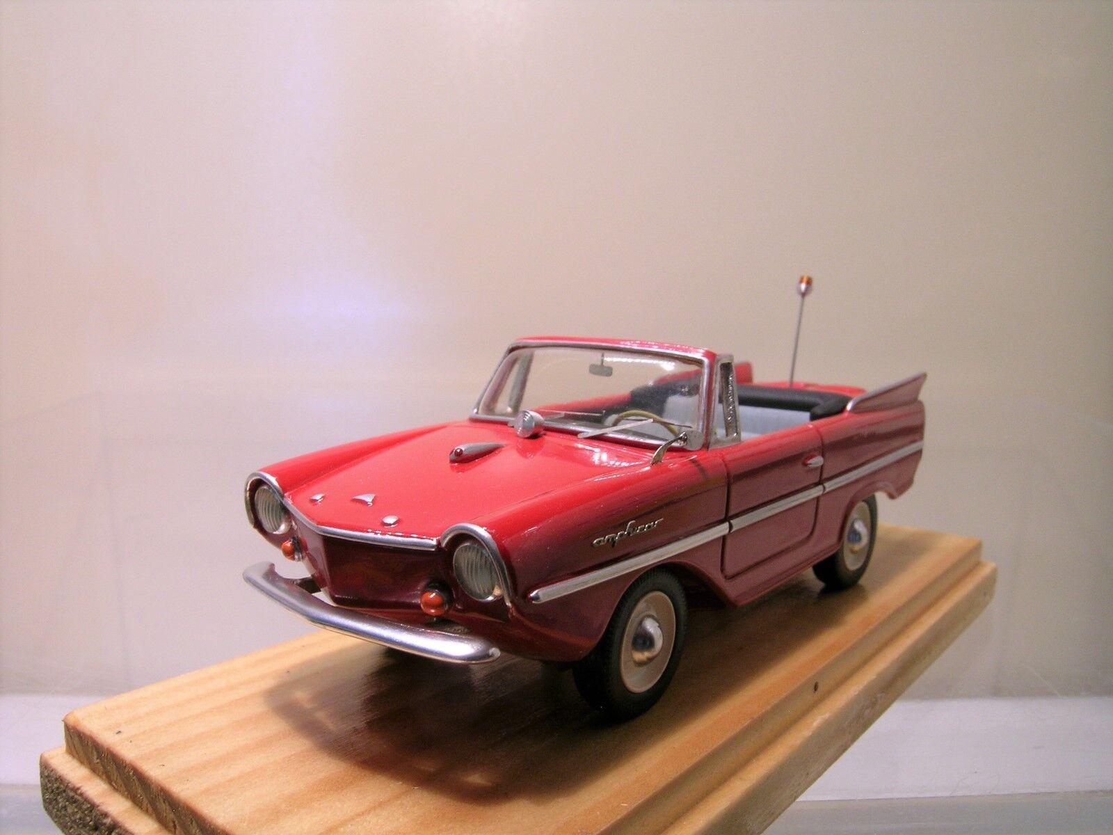 BUDIG AMPHICAR TYP 770 CONVERTIBLE HANS TRIPPEL 1961 rouge RESIN HANDB.1 43
