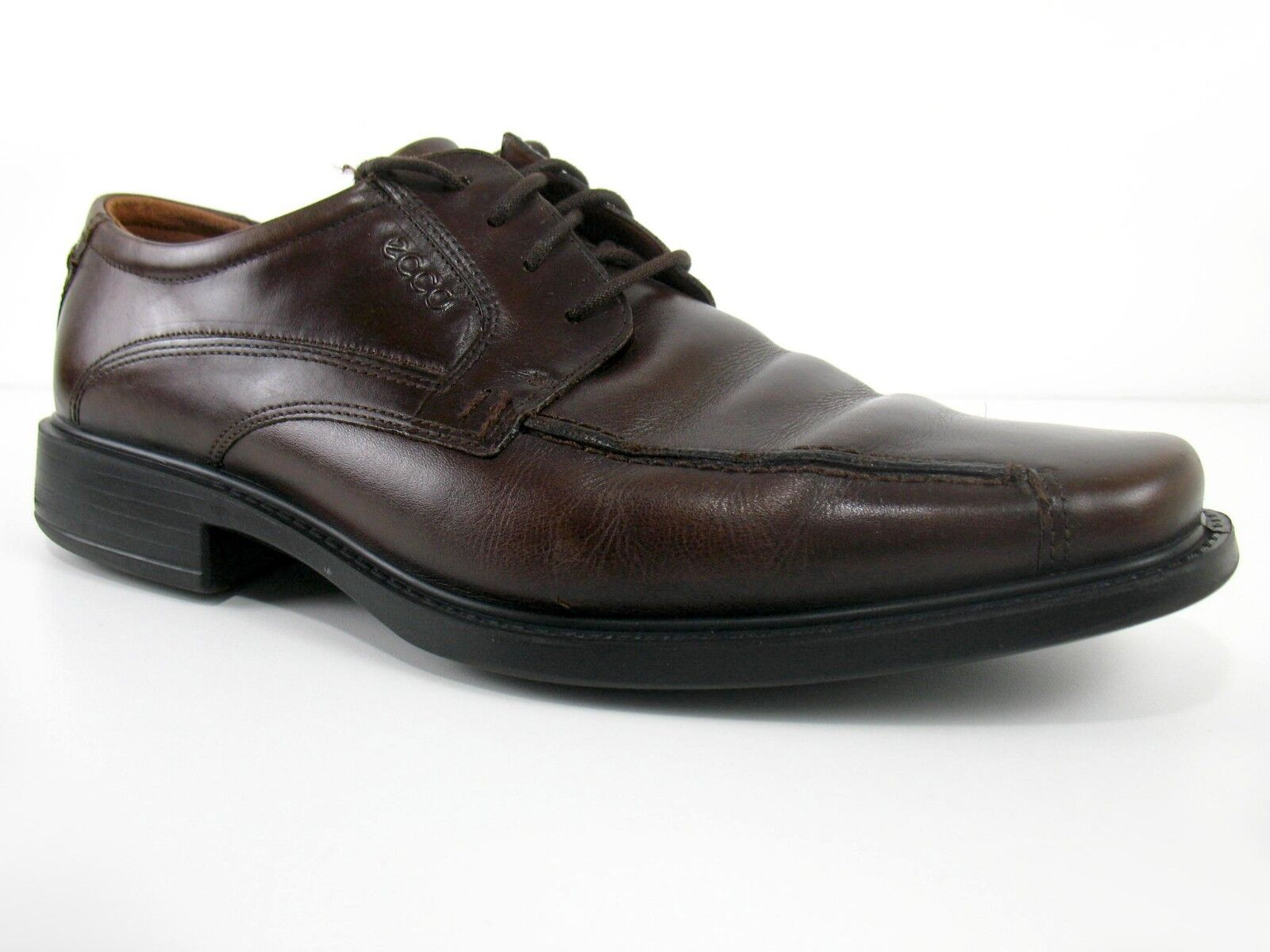 Ecco - New York Helsinki Bicycle Toe Oxfords Brown Leather - Sz 45 (Eur) 12 (US)