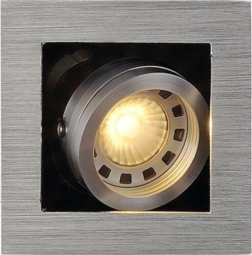 eckig 50W alu brushed max SLV KADUX 1 GU10 Downlight