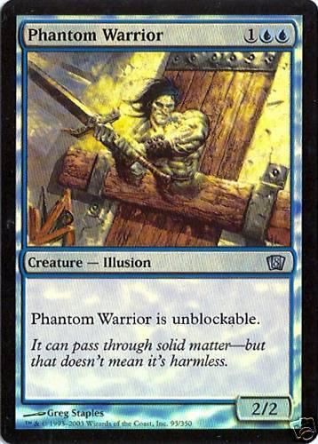 Phantom Warrior NM 8th Edition MTG Foil
