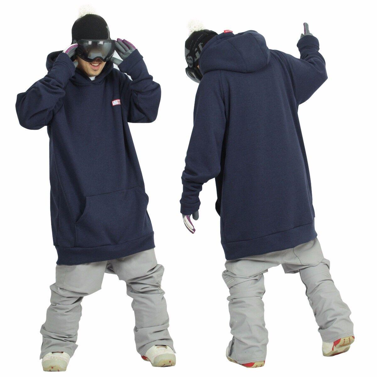 December long tall hoodie ski blu snowboard sports-melange blu ski 16ae69