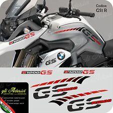 Kit Adesivi Fianco Serbatoio Moto BMW R 1200 gs LC stripes racing becco RED