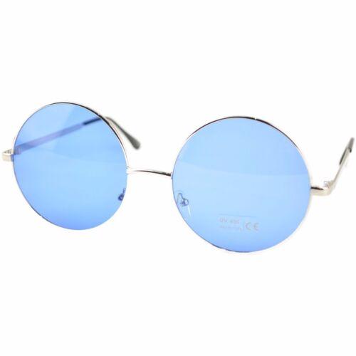 Unisex Plata Montura Con Colorido Lentes John Lennon Tipo