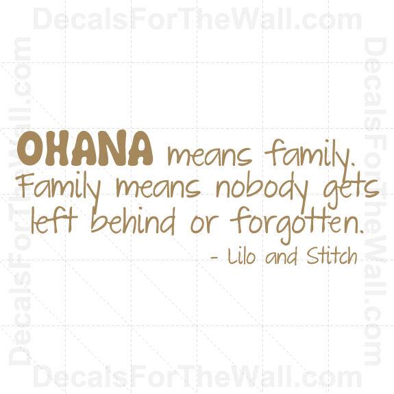 lilo and stitch ohana family disney wall decal vinyl sticker quote