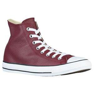 Converse All Star Leather HI Top Unisex 149491C Deep Bordeaux 100 ... 098d6087e