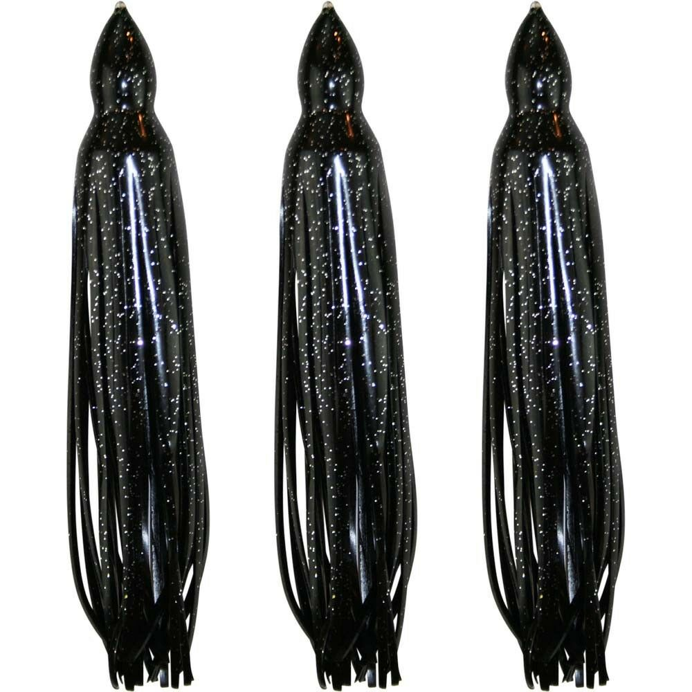 """3 Pack 5.5/"""" to 8.5/"""" Octopus Squid Hoochie Replacement Skirt Blue"""