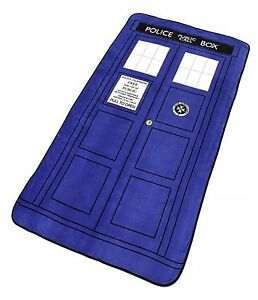 Doctor-Who-Blanket-Dr-Who-TARDIS-Silk-Touch-Raschel-Throw-50-034-x-60-034