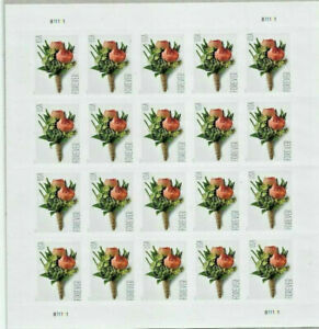 20 USPS STAMPS 2017 FLOWERS CELEBRATION BOUTONNIERE Forever Postage 1 Booklet