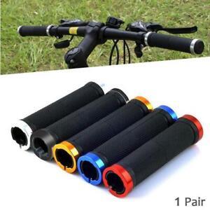 Bike-Bicycle-Grips-MTB-BMX-Soft-Cycling-Handlebar-Lock-On-Grips-1-Pair-Outdoor