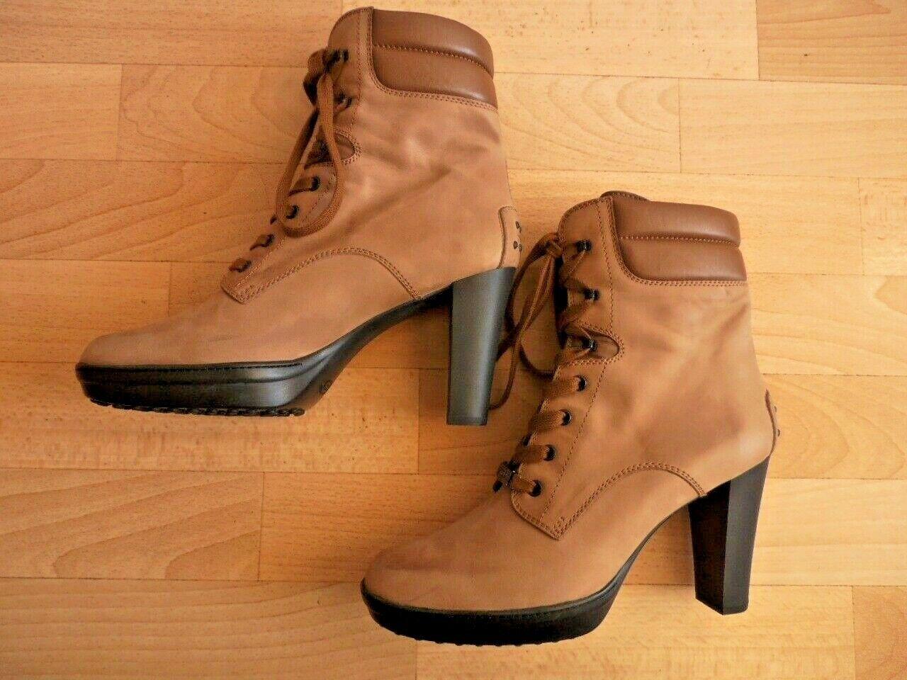 Tod's tods botín botas 41 (7,5) cuero genuino nuevo, np