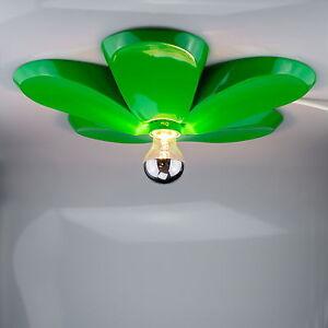 Retro-Deckenlampe-Blumen-Form-Leuchte-Gruen-Schlafzimmer-Lampe-Wohnzimmer-Leuchte