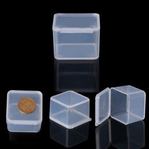 Image Is Loading Small Clear Square Plastic Jewelry Storage Bo Beads