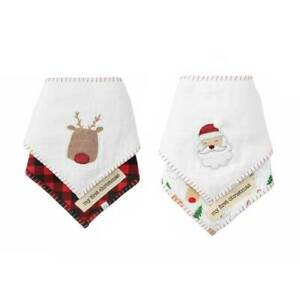 Mud Pie Reindeer Bandana Bib Set