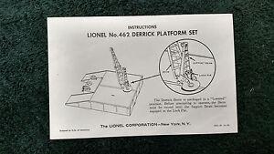 LIONEL-462-DERRICK-PLATFORM-SET-INSTRUCTIONS-PHOTOCOPY