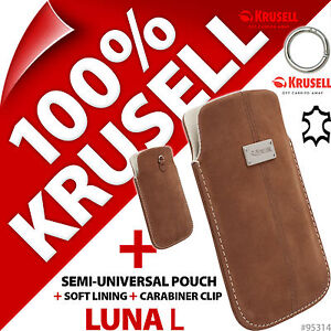New-Krusell-Luna-L-Large-GENUINE-SUEDE-LEATHER-Mobile-Pouch-Case-Cover-Slim-Clip